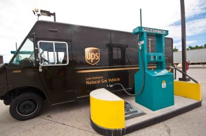 CNG fueled delivery truck